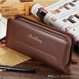 Promotion à double bourse de portefeuille Wallet Casual Wallet Men hommes de bourse Pochette longue design haute capacité Carteira cuir PU Double Zipper Wallet