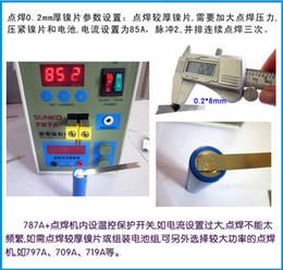 Wholesale v v W Mobile Phone Notebook Battery Microcomputer Pulse Spot Welding Machine MCU Pedal Welder Machine A