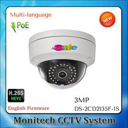 Wholesale Hikvision Multi language DS CD2135F IS MP Mini Dome PoE IP Network Camera Full HD P IP66 H Audio and Alarm I O CCTV