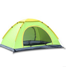Wholesale Nature Hike Person Double Tent New Arrived season Double Layer Outdoor Camping Hike Travel Play Tent Aluminum Pole