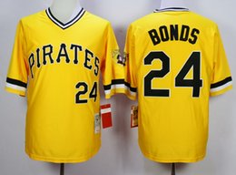 Wholesale Baseball Jersey Pittsburgh Pirates Barry Bonds Throwback Cool Black Yellow White Top Quality