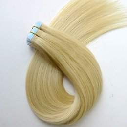 100g 40pcs 50pcs Tape in human hair extensions 18 20 22 24inch #613 color Glue Skin Weft PU brazilian Indian hair