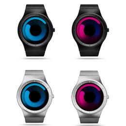 Men Watches Top Brand Luxury Watch Stainless Steel Mesh Quartz Watch Men Fashion Aurora Style Bacelet Watches Relogio Masculino