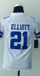 Wholesale 2016 DC Ezekiel Elliott Youth Football Jerseys Best quality Authentic Jersey Size S M L XL Mix Order