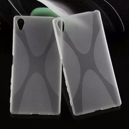 Wholesale For Sony Z5 Case Soft TPU Backcover X Line Cover For xperia m4 aqua Z3 Z C4 M5 Case Soft Gel Silicone Case
