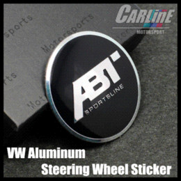 Wholesale MIX VW GTI WOLFBURGE R Rline ABT Rabbit Crystal Steering Wheel Badge Emblem Sticker Golf CL02