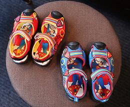 Free Shipping Colorful Cute Superman Children Boy Sandals Shoes Fashion Korean Cute Cartoon Superman Body Sandals Shoes 34