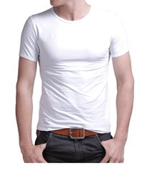 Wholesale Summer mens t shirt short sleeve bapes sport slim t shirt pure color fitness tshirt for men cotton tommy Tops tee homme