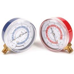 Wholesale gauge manometer pics Air Conditioner R410A R134A R22 Refrigerant Low amp High Pressure Brass Manifold Gauge PSI KPA