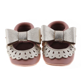 New mary jane style moccasins soft sole Genuine leather Baby Infant walker Shoes Girls first walker SHOES tassel shoes 20 color C407