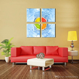 Wholesale Home Art The Oranges Wall Art Painting For Modern Home Decor Fruit Prints The Picture Artwork Decoration Red Yellow Green Orange