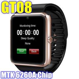 Wholesale GT08 Smartwatch MTK6260A chip Bluetooth Smart watch Wristwatch smartwatch IOS Android Phone Sport Watch Intelligent Clock