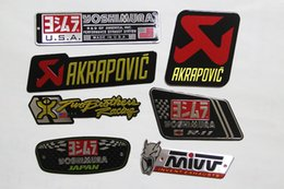 Wholesale Hot sale D Aluminium Heat resistant Motorcycle Exhaust Pipes Decal Sticker Cool Personality Scorpio Yoshimura Universal Stickers