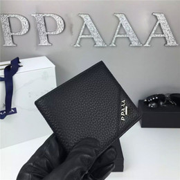 Wholesale Best quality Male Genuine Leather luxury wallet Casual Short designer Card holder pocket Fashion Purse wallets for men