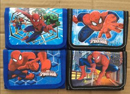 Wholesale New Cartoon Popular SPIDERMan Wallet purses Gift bags Fashion Best Gift