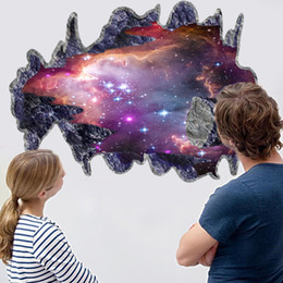 Large Size the new 3 d space galaxy meteorites sitting room the bedroom TV setting stereo wall stickers