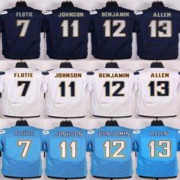 Wholesale Men s Jersey Keenan Allen Doug Flutie Stevie Johnson Travis Benjamin Navy blue Light Blue White elite Jerseys sports we