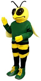Wholesale Billy Bee Mascot Costume with Shirt Shoes Mascot Park Insect Theme Anime Cosply costumes Carnival Fancy dress Kits