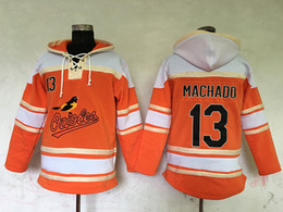 Wholesale Top Quality Cheap Baltimore Orioles Old Time Baseball Jerseys Manny Machado Orange Baseball Hoodie Pullover Sweatshirts Winter Jacket