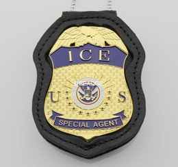 Wholesale US DEPARTMENT OF HOMELAND SECURITY ICE SPECIAL AGENT BADGE WITH CUT OUT HOLDER