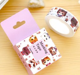 Masque minou en Ligne-Gros-Nouvelle 1.5CM large bande mignon petit chat de Kitty Washi Sticker Scrapbooking DIY Étiquette Masking Tape école de fournitures de bureau