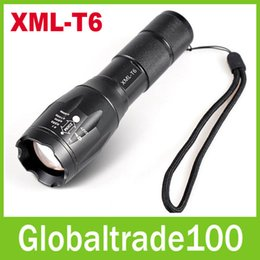 Wholesale E17 R5 XML T6 Lumen Zoomable CREE Waterproof LED Torches Flashlights Camping Torch Flash High Free DHL