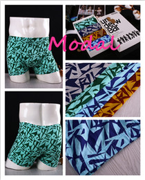 Wholesale Modal men underwear soft breathable men underpant cotton keep warm boxer underwear with opp bag boxs