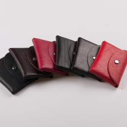 Wholesale Factory made leather multifunction leather business card holder bank card package small purse