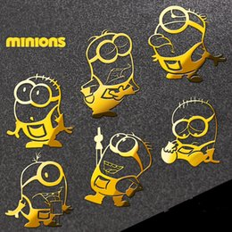 Wholesale-1 Pcs Hot movie Minions reactor metal stickers 3D Nickel Alloy Metal Sticker phone stickers Car Computer sticker