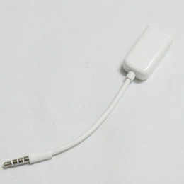 Wholesale 3 mm Earphone headphone Male To Female Y Splitter Extend AUX Audio Cable Adapter Jack