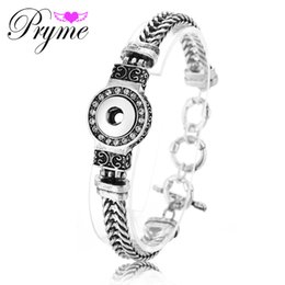 Wholesale Pryme mm Lucky Bracelret DIY Jewelry Making Interchangeable Snap Buttons Bracelet Chain Bangle PB008