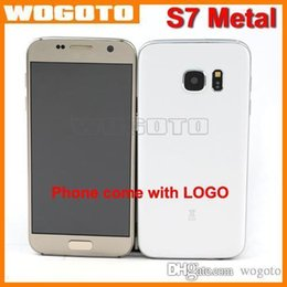 Wholesale S7 Edge Phone Metal Shell QuadCore MTK6580A GBRam GBRom Phone Show GB Android S7 Cellphone Support G WCDMA G GSM SimCard