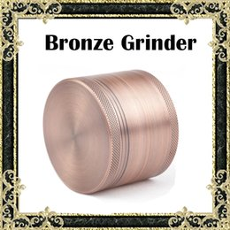 Wholesale Deluxe Bronze Grinder Sharpstone Grinders mm Aluminium Grinder Tobacco Grinder Herb Spice Crusher Piece Top Quality Grinders