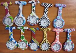 New Hot Nurses Fob Watches Geometric Flowers Silicon Nurse Doctor Paramedic Tunic Brooch Fob Watch 200pcs DHL