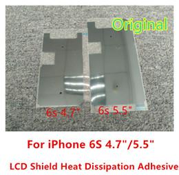 Envío libre del iphone de la manzana en venta-Para el iPhone 6S 6S + 6SP 6s más la etiqueta engomada original de la película de la disipación del escudo del calor parte 100pcs / lot que envía libremente