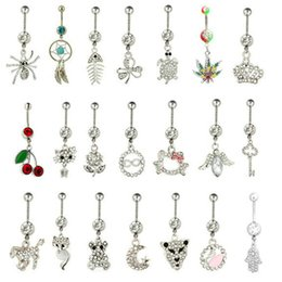 Wholesale Styles Body Jewelry - Wholesale Mix Styles Belly Button Ring 316L Steel Navel Ring Sexy Body Piercing Jewelry Piercing Navel Ring