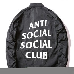 Wholesale Anti Social Social Club Coachs Jackets Men Hip Hop Brand ASSC Windbreaker Jackets Women Waterproof Windrunner Coat