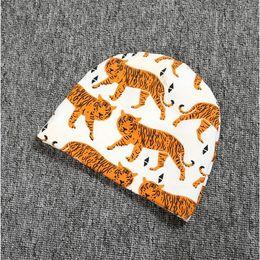 Baby Girls Caps ,Tiger baby hat ,knit cotton newsboy hat,animal printed baby shower gift beanie,children's caps