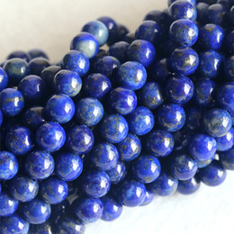 "Wholesale Natural Genuine Dark Blue Lapis Lazuli Round Loose Beads 4-12mm DIY Jewelry Necklaces or Bracelets 16"" 04150"