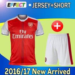 Wholesale English Arsenales Soccer Jersey set Ozil alexis ramsey walcott cazorla wilshere podolski giroud rosicky football shirts men kits