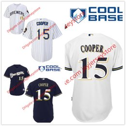 Wholesale Cecil Cooper Jersey Stitched Milwaukee Brewers Jersey Baseball Home Away White Pinstripe Blue Grey