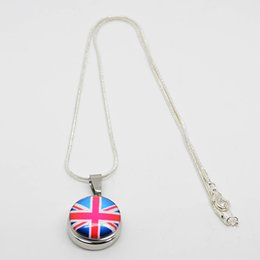 Fashion design country flat pattern glass snap button charm pendant interchangeable necklace jewelry for making DIY necklace