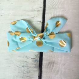 Mint Gold Baby headband ,Adjustable head wraps ,turban girls headband ,newborn knotted bow tie headband,toddler hair accessory