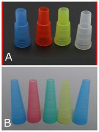 Shisha bouche à vendre-Finger Hookah Shisha test Drip Tip Cap Cover 510 plastique jetable Embouchure Mouth Conseils santé pour E-Hookah Water Pipe Simple Paquet DHL