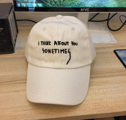 casquette Brand Drake 6 panel white letter baseball caps hip hop I think about you sometims my real friends gorras strapback hats snapback
