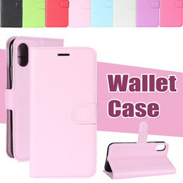 Flip Wallet PU Leather Litchi Magnet Kickstand Card Cover Case For iPhone XS Max XR X 8 7 Plus Samsung Galaxy S10 E 5G A10E A20E A6S A8S A2