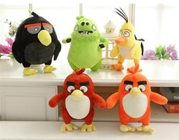 Wholesale 5 style quot angry bird birds plush toys inch Love angrybird Stuffed Animal Baby Dolls super soft Toy baby best gift EMS