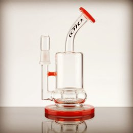 Wholesale 2016 new in toro bubbler with isf perc red orange accents glass bongs for sale cheap bongs online mtO005