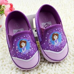 Baby first walkers shoes baby sport shoes cotton shoes cartoon sofia shoes color purple size 11-13cm 2016 kids shoes children shoes.1806