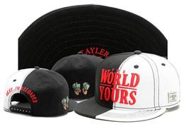 Promotion snapbacks pas cher retour 2016 pas cher Cayler Sons WORLD YOURS rapidement de faire Snap Back Caps hiphop casquettes chapeaux de sport pour homme et femme